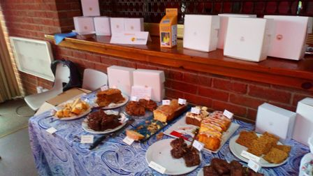 Cakes galore at the 'Big Brew' in Northrepps. Pictures: Mike Terry