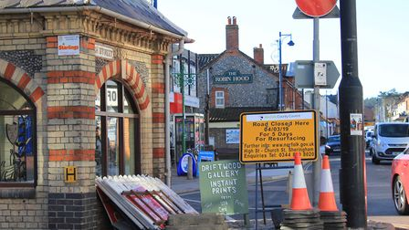Road closures will be in place in parts of Sheringham town centre this week, while resurfacing work