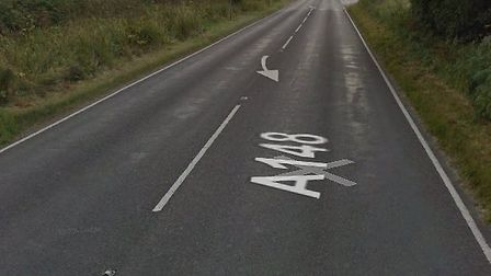 The A148 at Pretty Corner, Sheringham, was blocked following an accident. Picture: Google Street Map