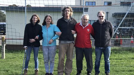 From left to right: Jenna Bedwell, Sally Whitman, Paul Free, Terry Skyrme and Chris Ainsworth, who a