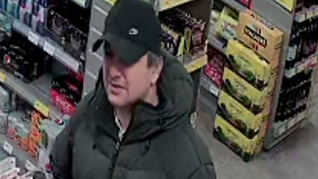 Do you know this man? Police have released CCTV images of a man they want to speak to. Pictures: No