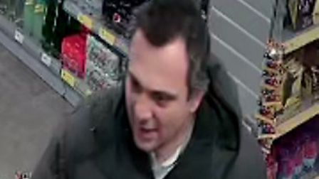 Do you know this man? Police have released CCTV images of a man they want to speak to. Pictures: Nor