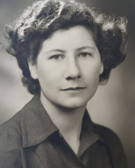 Mary Blyth as a young woman in 1945. Photo: Cowper Johnson family