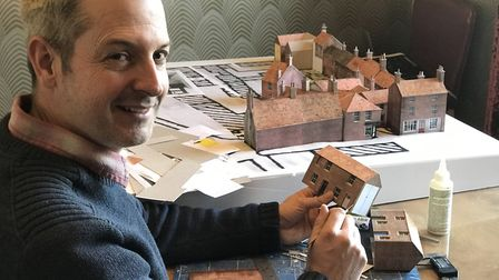 Graphic designer and model maker Richard Crossley is recreating a scale model of the former Ship Yar