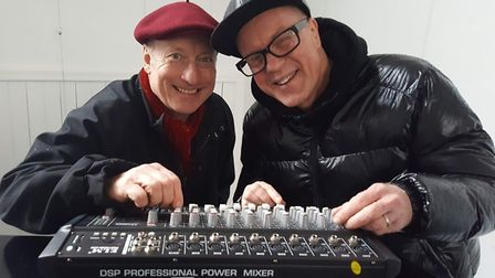 Paul Wellings, right, also known as DJ Madhatter, with Paul Hensby, DJ Funky Chicken, who filled in