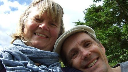 Angela Hunter and her husband Leigh. Pictures: supplied by Judith Banks