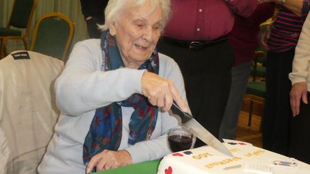 100-year-old Lily Boddington celebrated her birthday at Avenue Bridge Club. Photo: Joanna Wells
