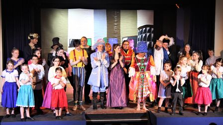 The cast of the Mundesley panto Dick Whittington and his cat. Picture: MAURICE GRAY