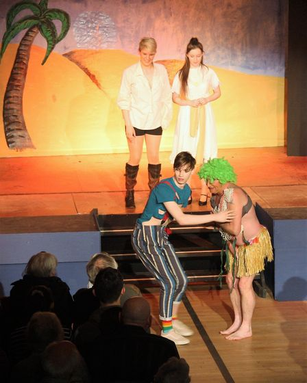 A scene from the Mundesley panto Dick Whittington and his cat. Picture: MAURICE GRAY