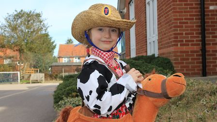 Belfry Primary School pupil Lollie, 6, as cowgirl Jessie, from the Disney movie Toy Story.Photo: KAR