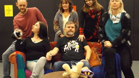 The cast of 'Miss Marble Strikes…Again!' at Sheringham Little Theatre. Picture: SUPPLIED
