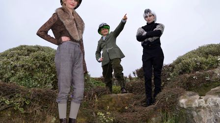 Toad (James Shorten), Ratty (Ayrelia O'Leary-Leeson) and Badger (Rosa Cormack) from the cast of The