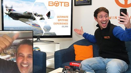 BOTB winner Spitfire experience. Pictures: BOTB