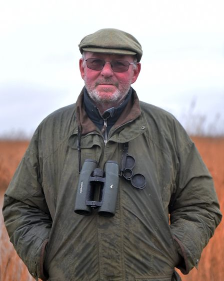Bernard Bishop is retiring as head warden at NWT Cley Nature Reserve after 40 years of service. PICT