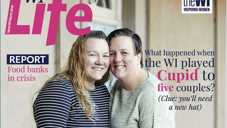 The couple featured on the front cover of the March edition of WI Life. Picture: WI Life