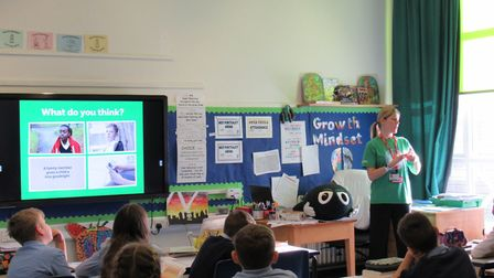 Youngsters have been raising awareness of the NSPCC at Millfield school. Picture: Millfield school