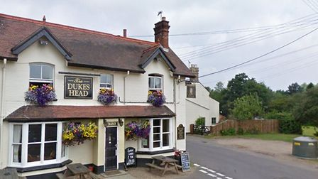 The Duke's Head pub at Corpusty. Residents in Corpusty and its neighbourhing village, Saxthorpe have