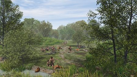 An artist's impression of what Doggerland could have loooked like in the Mesolithic period. Image: W