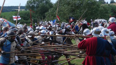A re-enactment at Tewkesbury Medieval Festival. Orgainsers are hoping a medieval-themed event centre