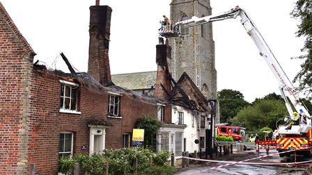 The fire at the Ingham Swan pub and neighbouring properties in September 2017.Picture: Nick Butcher