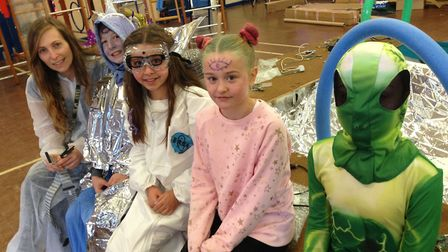 Alien day at Buxton Primary School. Pictures: Neil Perry