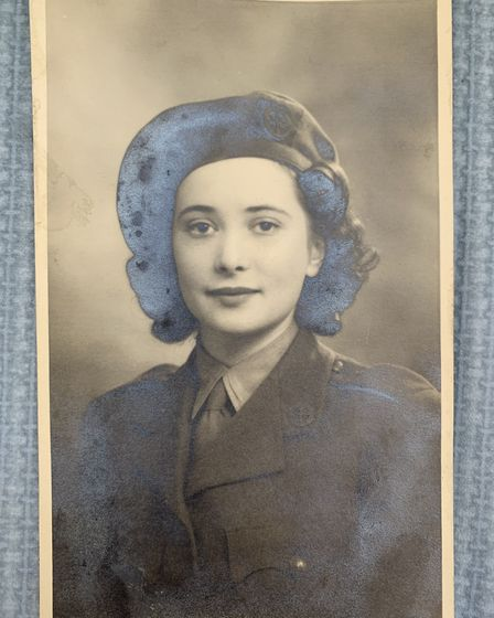 Dorothy Mann as a young woman, dressed in the uniform of the Second World War FANYs. Mrs Mann, who l