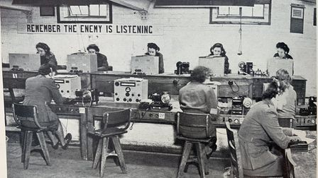 A photo of the FANYs working at a signal station in the Second World War. Dorothy Mann is on the far