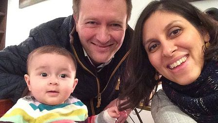 Nazanin Zaghari-Ratcliffe with her husband Richard Ratcliffe and their daughter Gabriella. Picture: