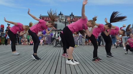 File photo of dancers from Marlene's School of Dance performing at Cromer Pier. The pier's Pavilion