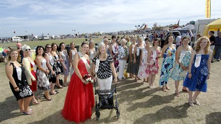 Many former Cromer Carnival queens met up for a celebration in 2009. Pictured in the foreground is t