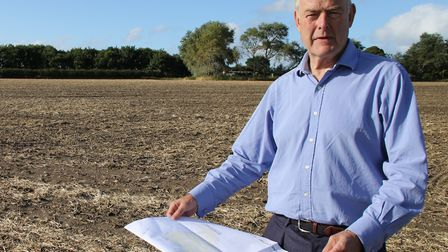 Landowner Michael Gurney on the proposed site in 2017. Picture: Ally McGilvray