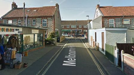 Melbourne Road in Sheringham. Emergency services attended a road traffic collision there on March 20