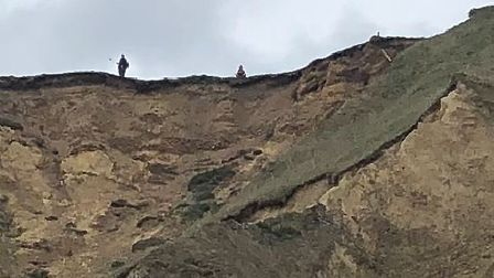 Cromer and Sheringham Coastguard has issued a warning after people were seen precariously close to t