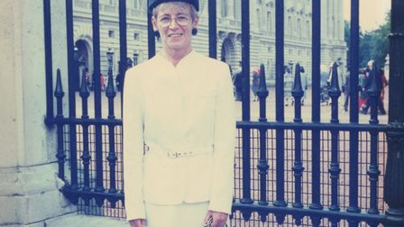 Kate Powell, former Matron of Cromer Hospital, on a visit to Buckingham Palace. Picture: SUPPLIED BY