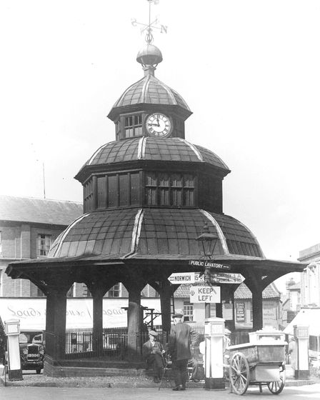 North Walsham, Market Cross in the late 1940s or early 1950s. Photo: Archant Library