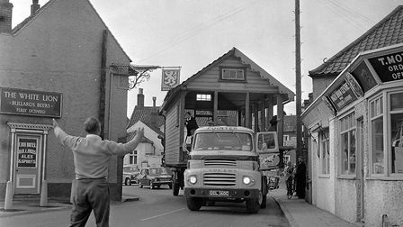 The moving of Holt's signal box, April 1966. Photo: Archant Library
