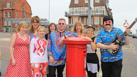 Cromer Chamber of Trade Chairman Sam Grout (centre) and fellow local business owners gear up for the
