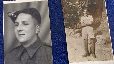 Tommy Warnes when he was in the army. Pictures: Warnes family