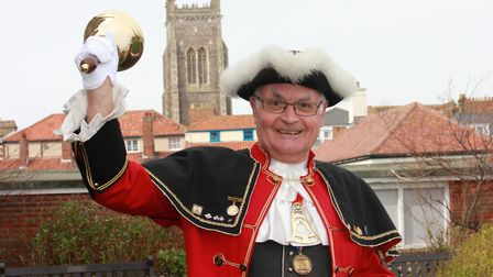 Jason Bell, who is retiring after 35 years as town crier of Cromer.Photo: KAREN BETHELL
