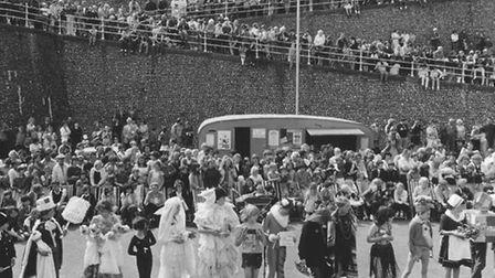 Fancy dress at Cromer Carnival in 1982. Photo: Archant Library