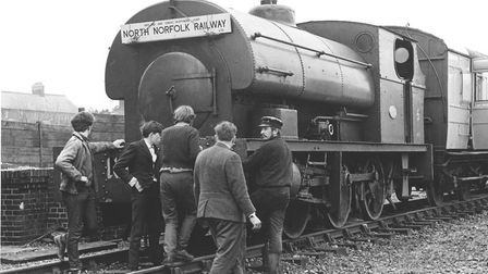 Transport - TrainsThe 34-ton saddle tank locomotive, a new arrival for the M & G.N. (Midland and G