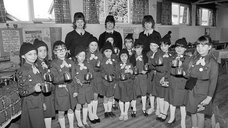 Brownie tea making in Sheringham, April 1984. Photo: Archant Library