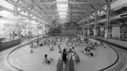 The Splash swimming pool in Sheringham, 18th August 1994. Photo: Archant Library