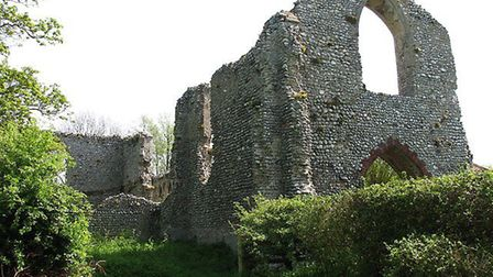 The ruins of St Mary's Priory in Beeston Regis, near Sheringham, where an 82-year-old man was assaul