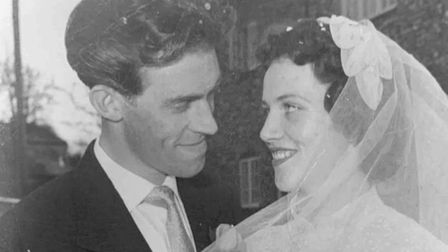 Val and Ted Nichols of Buxton are celebrating their diamond wedding anniversary. Picture: SUPPLIED B