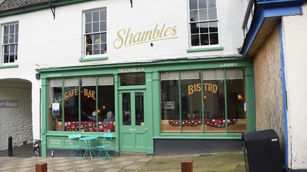 Shambles café bar bistro, one of the new businesses in the town. Picture: DENISE BRADLEY
