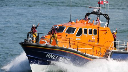 Cromer lifeboat was launched on Saturday, March 30, to assist a guard vessel which had lost steering