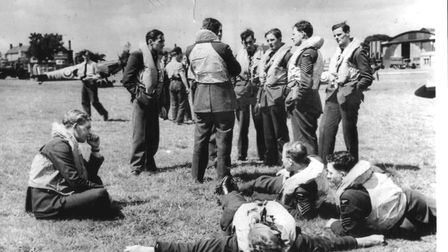 Airmen take a breather during the Battle of Britain. Picture: supplied by Battle of Britain Trust