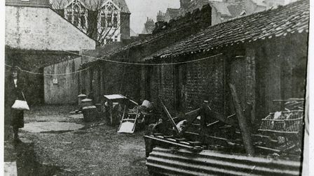 The former fishermans' cottages, which were to become Cromer Museum. Picture: SUPPLIED BY CROMER MUS