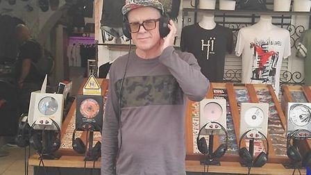 Paul Wellings in Ibiza. Also known as DJ Madhatter, Mr Wellings is getting ready for a gig at Cromer